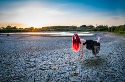 Levitation at sunset